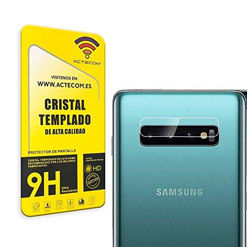 actecom Protector Camara para Samsung S10 Plus Cristal Vidrio Templado Camara Samsung S10 Plus