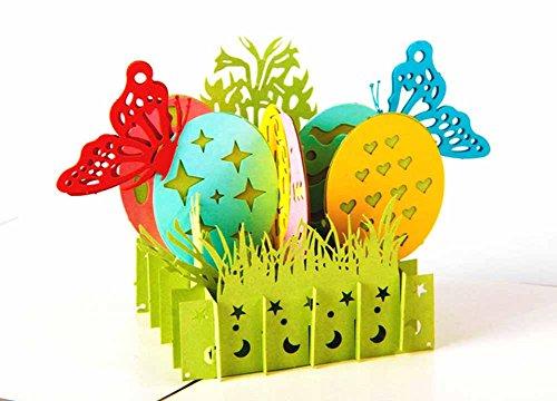 MADE4U HKCH01 - Set kirigami per creazione biglietti d'auguri natalizi e per il nuovo anno, 3D.