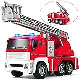 GizmoVine Feuerwehrauto mit Drehleiter und Wasserspritze Wasserpumpe,1:12 Spielzeugautos Reibung...