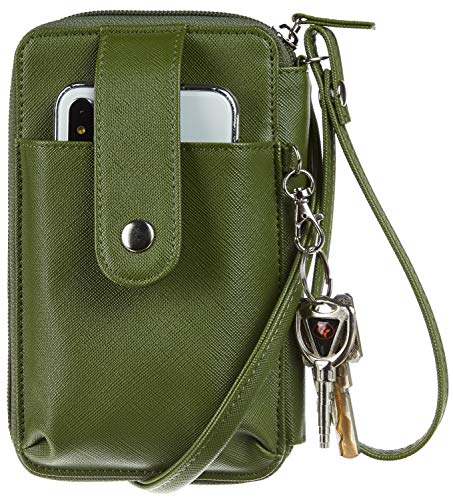 PERFECT CROSSBODY PHONE PURSE: with a front pocket for cell phone's easy access, this crossbody purse is perfect for the girls who would like to go out in a trendy and stylish manner.  STYLISH & PRACTICAL DESIGN: this cell phone purse comes with 1 ou...