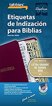 Tabbies Large Print Gold-Edged Spanish Bible Indexing Tabs Old & New Testaments 84 Tabs Including 64 Books & 20 Reference Tabs  58355
