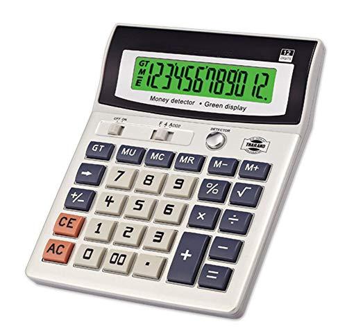 Taschenrechner Gefälschter Desktop-Taschenrechner LED-Lichtanzeige 12-Bit-Anzeige Office Banking-Finanzrechner (2 pcs Taschenrechner)