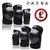 Best Elbow And Knee Pads - Protective Gear Set for Kids/Youth/Adult Knee Pads Elbow Review