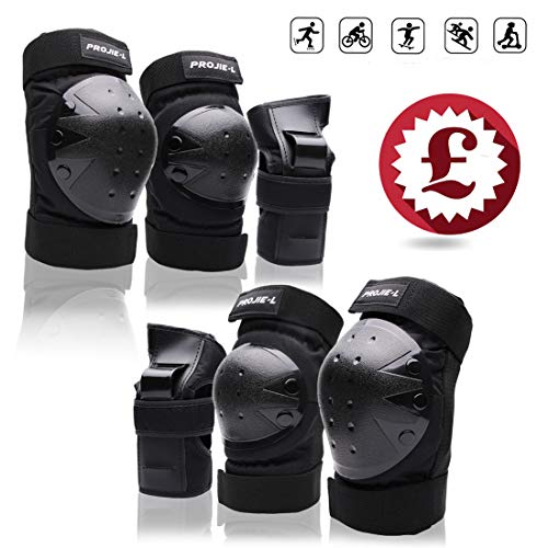 Protective Gear Set for Adult/Youth Knee Pads Elbow Pads Wrist Guards for Skateboarding Cycling Bike BMX Bicycle Scootering 6pcs