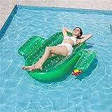 Tumbona flotante Cactus inflable flotador de la piscina for adultos y piscina Salón partido de la nadada de los niños gigante de los juguetes for el verano flotadores cama de la piscina Piscina juguet