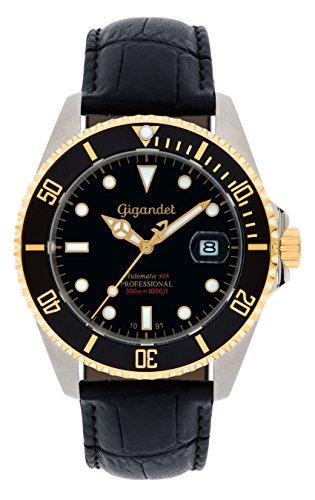 Gigandet G2-018 - Reloj para Hombres, Correa de Cuero Color Negro
