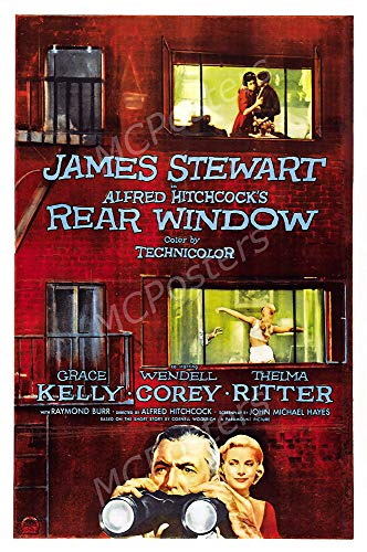 MCPosters - Rear Window Alfred Hitchcock Glossy Finish Movie Poster - MCP635 (24' x 36' (61cm x 91.5cm))