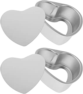 2er Pack Silicone Bakeware Cake Mould Plate Glass Bottom Heart Round Ø 26cm
