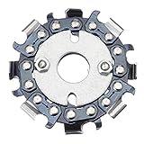 Placa de disco de molinillo de 2. 5 pulgadas 8 Cadena de dientes Sierra Ángulo de ángulo Talla Plástico de madera