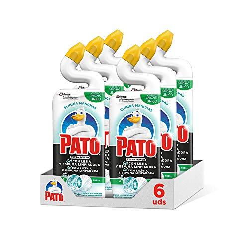Pato WC Power Lejía Fresh, Limpiador Quitamanchas para Inodoro, 750 ml, Pack de 6 Unidades, Incoloro, 750, 6