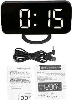 Multifunktionell väckarklocka, digital LED-klocka med tidsfunktion lätt justerbar för sovrumsapparater