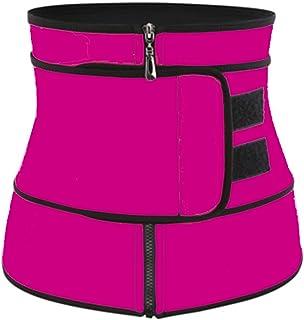 الكورسيهات النساء البطن الجسم المشكل ملابس داخلية الخصر المدرب الحرارية حزام العرق حزام .مدرب الخصر للنساء (Color : Red, S...