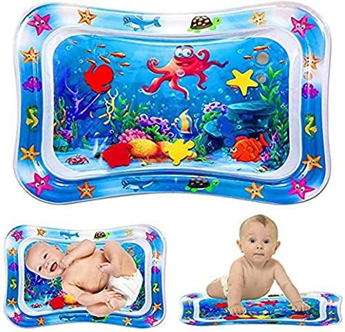 La almohadilla de agua premium hinchable para bebés y niños pequeños es el centro de entretenimiento perfecto para que los bebés estimulen el crecimiento