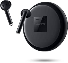 HUAWEI FreeBuds 3 - Wireless Bluetooth Earphone with Intelligent Noise Cancellation (Kirin A1 Chipset, Ultra-Low Latency, Fast Bluetooth Connection, 14mm Speaker, Quick Wireless Charging) (Black)
