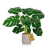 HIDEBLOOM - Plantas artificiales en maceta – 52 cm Planta artificial Monstera grandes Decoración de grande plástico falso
