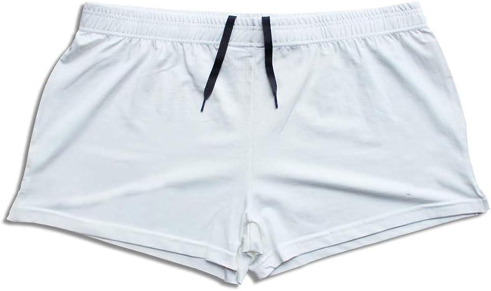 GYMAPE Mens Gym Bodybuilding Workout Sprots Shorts Cotton