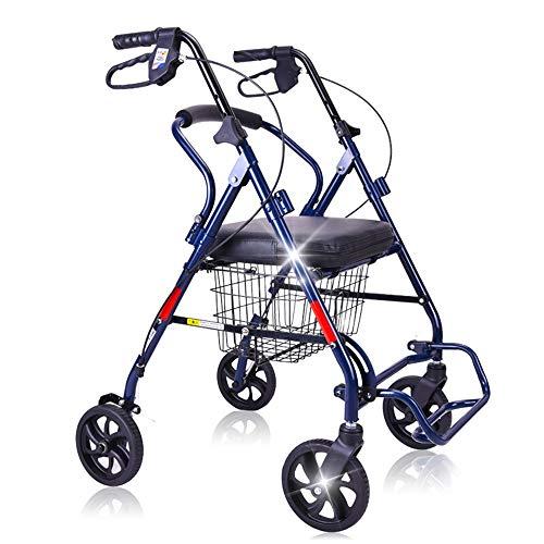Goquik Old Man Inklapbare rolstoel voor wandelen, met alker en handrem