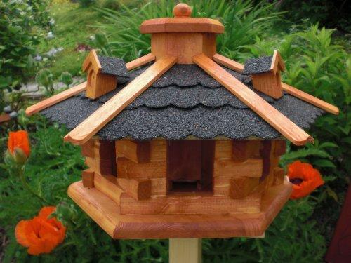 Vogelhaus-Gaube Bitumendach (V058) mit wetterfestem Anstrich-Vogelhäuser Vogelfutterhaus Vogelhäuschen-aus Holz- Schreinerarbeit