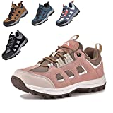 MARITONY Unisex-Child Hiking Shoes for Kids Sneakers Boys Girls Anti Collision Outdoor Running Athletic Shoe Non-Slip Sneaker Pink