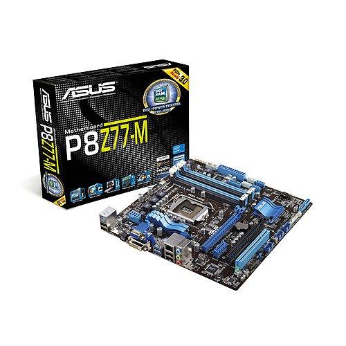 Asus P8Z77-M Mainboard Sockel 1155 (Micro-ATX, Intel Z77 Express, 4X DDR3 Speicher, 2X SATA III, 4X USB 3.0)