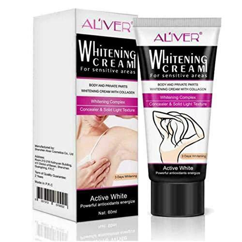 Crema blanqueadora para piel Eliminar manchas y arrugas en cara axilas cuello Mano