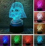Illusion Lámpara de noche Star Wars Legends Nave espacial Smart Fans Niños Juguete Perfecto Regalos para-7 Colores cambiantes