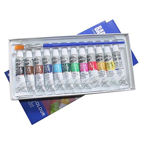JIACUO Square Acrylic Transparent Paint Palette Watercolor Makeup Oil Painting Supplies S