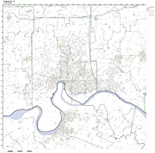 Evansville, IN ZIP Code Map Laminated