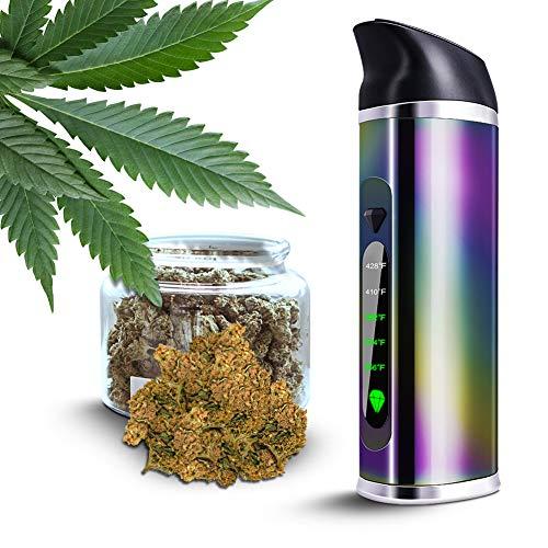 Set di vaporizzatore portatile per erbe con camera in ceramica e display OLED, senza nicotina senza liquido (arcobaleno)