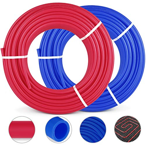 Happybuy Oxygen O2 Barrier PEX Tubing - 2 Rolls of 1/2 Inch X 300 Feet Tube Coil - EVOH PEX-B Pipe for Residential Commercial Radiant Floor Heating Pex Pipe (1/2