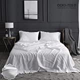 Simple&Opulence 100% Linen Sheet Set Embroidery(King,White)