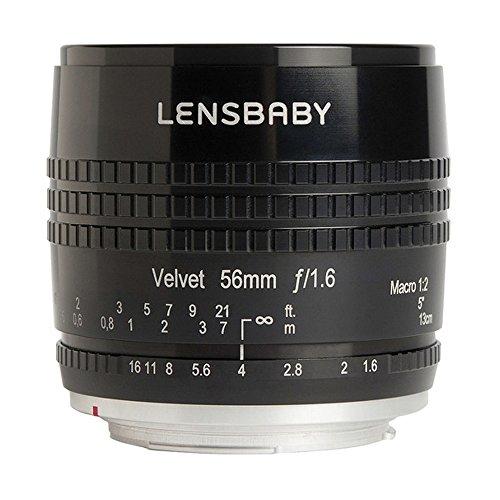 Lensbaby Velvet 56 - Objectif Portrait pour Nikon (56mm, f / 1.6) Couleur Noir