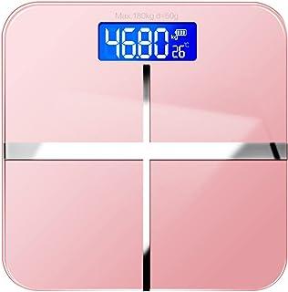 ميزان الوزن الرقمي ميزان الوزن للأوزان المنزلية ميزان دقيق لقياس الوزن لقياس دهون الجسم أداة قياس ميزان الحمام (اللون: أزر...
