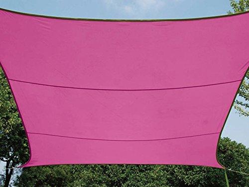 Perel GSS4320FU Voile d'ombrage Rectangulaire Fuchsia 200 x 300 x 0,2 cm