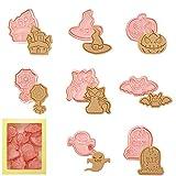 Veaoiy Moldes para galletas de Halloween, para fondant, minicortadores de galletas, para niños,...