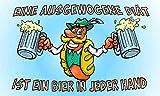 flaggenmeer® Flagge Bier eine ausgewogene Diät 80 g/m² ca. 90 x 150 cm