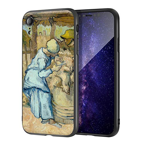 Vincent Van Gogh for iPhone XR Case/Art Cellphone Case/Giclee UV Reproduction Print on Mobile Phone Cover(The Sheep Shearer)