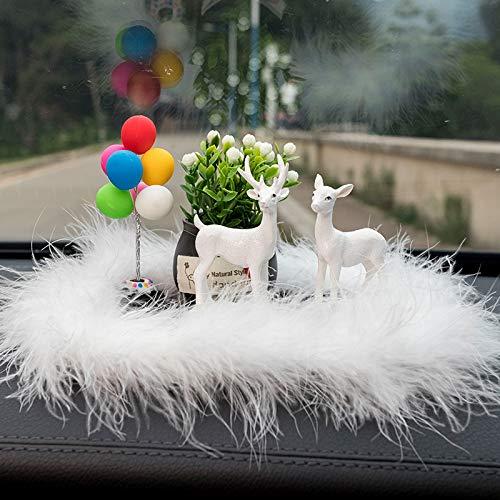 RAP Car levert creatieve interieur auto decoratie helemaal veilig auto interieur centrale controle auto aan boord ornamenten een paar herten + kleurrijke ballonnen [base] + lucky fruit + harige pad