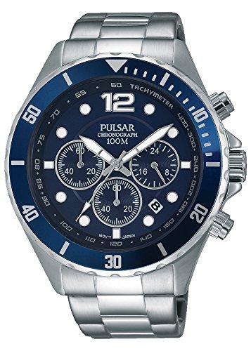 Pulsar PT3719X1 Bracelet Montre analogique à Quartz Acier Inoxydable pour Homme