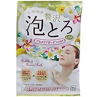 牛乳石鹸共進社 お湯物語 贅沢泡とろ 入浴料 プルメリアガーデンの香り 30g 【4点セット】