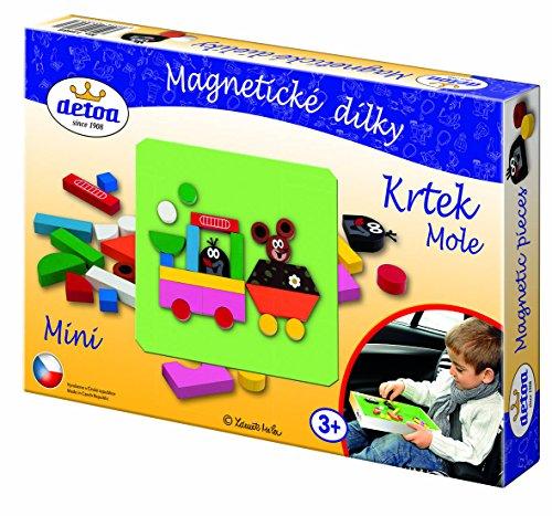 Detoa 13886 Mini jeu cubes aimantés Motif taupe