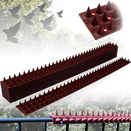 Stimo Tierabwehr Vogelabwehr Kletterschutz Einbrecherschutz für Zäune, Geländer & Mauern (10er Set (Gesamtlänge 5 Meter))