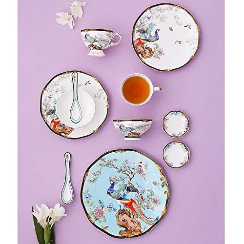 11pcs Bone China Tableware Set Ceramic Set Bowls and Plates Luxury...