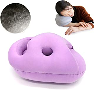 Travel Pillow, Comfort Modal Fabric Office Napping Pillow Airplane Travel Particles Pillow Student Napping Pillow,Students Nap Pillow,28X20X14CM,Purple