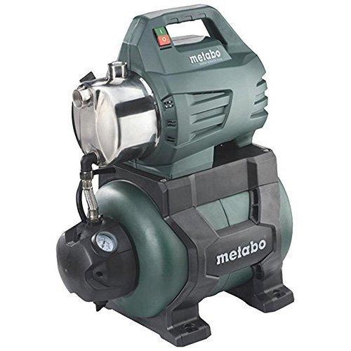 Metabo Hauswasserwerk HWW 4500/25 Inox (1300 Watt, 4,8 bar, 24 Liter, Fördermenge 4500 Liter/Stunde, Vorfilter, Rückschlagventil Hauswasserautomat mit Start/Stop Automatik) 600972000
