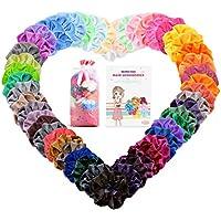 50 Piezas Scrunchies Terciopelo, MeaMae Care scrunchies terciopelo accesorios para mujer banda el cabello banda de goma cinturón de terciopelo multicolor para mujeres niñas accesorios