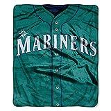 NORTHWEST MLB Seattle Mariners Raschel Throw Blanket, 50' x 60', Jersey