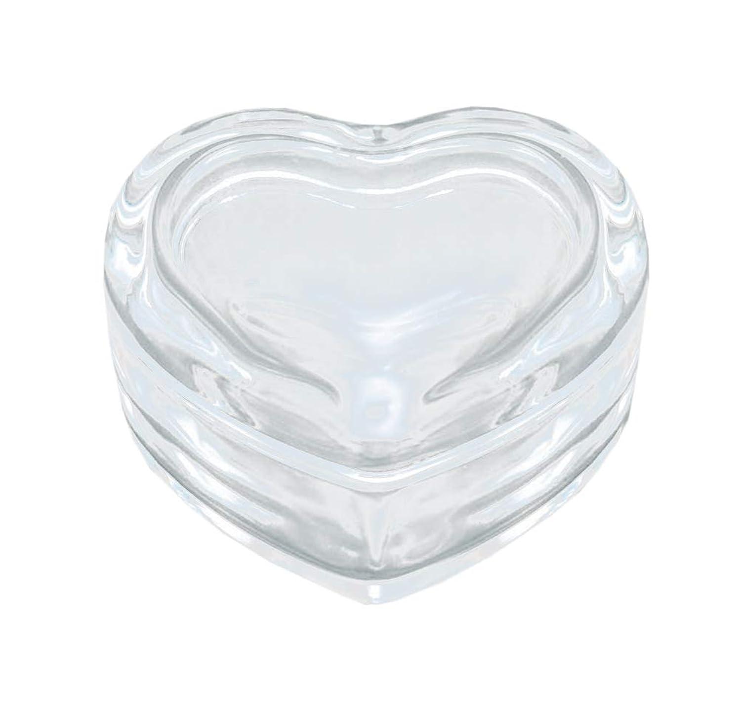 オフマエストロ脱獄東洋佐々木ガラス 置物 クリア 約8.4×7.6×4.7cm 蓋物 ミニハート 日本製 DT100