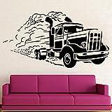 Etiqueta de la pared del camión etiqueta de la ventana del vinilo del coche grande camionero dormitorio hombre cueva gran garaje decoración de interiores papel tapiz arte