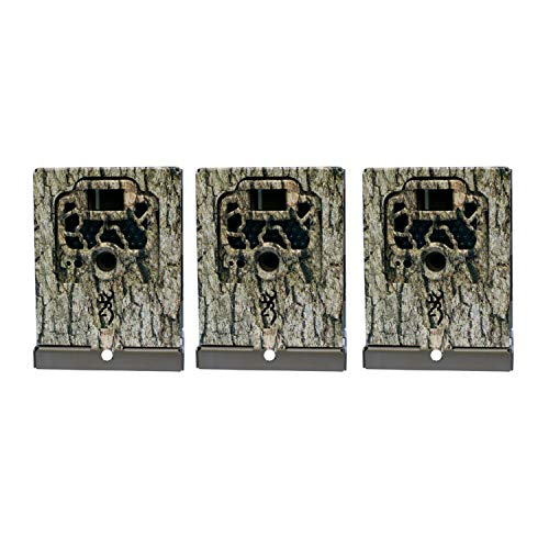 Browning Trail Cameras Locking Security Box Case for Game Cameras, Camo (3 Pack)